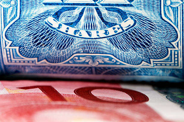 european shares - guilloche stock photos and pictures