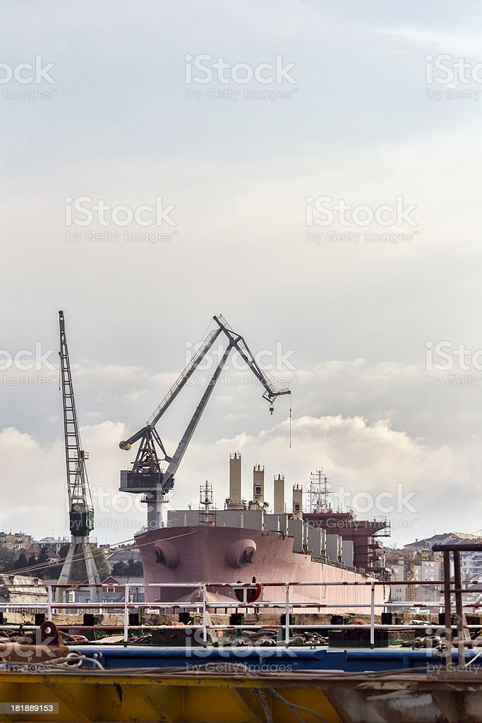 European shipyard construction site royalty-free stock photo