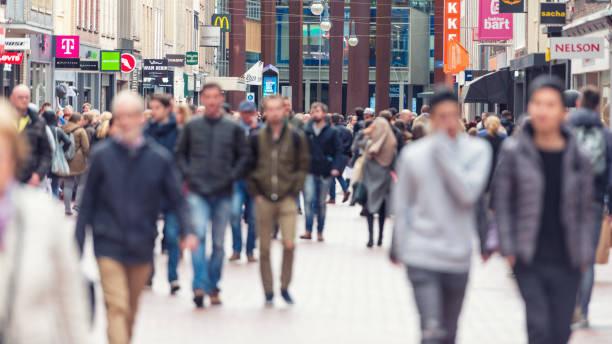 European shopping street segment stock photo