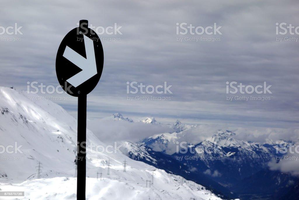 European Ski Lift stock photo
