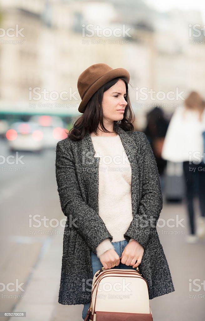 European street style stock photo