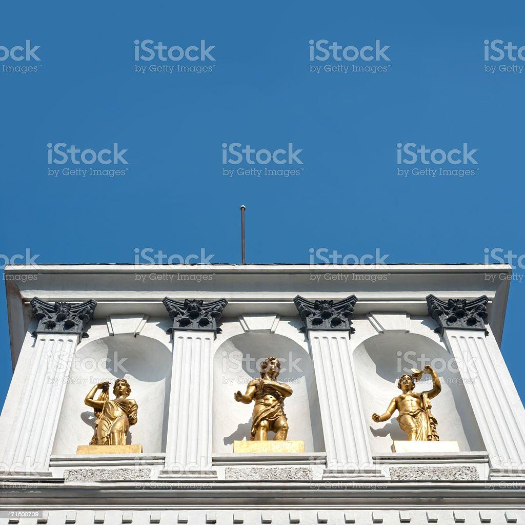 European style building royalty-free stock photo
