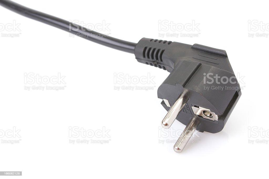 European two pin power plug - French/German royalty-free stock photo