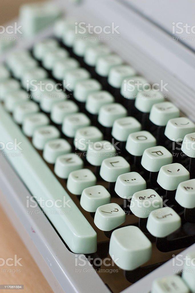 European Typewriter royalty-free stock photo