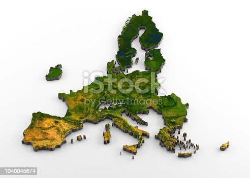 istock European Union (post-Brexit) 3D Physical Map with Relief 1040045674