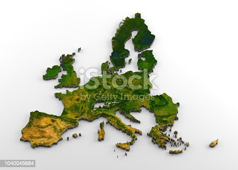 istock European Union (pre-Brexit) 3D Physical Map with Relief 1040045684