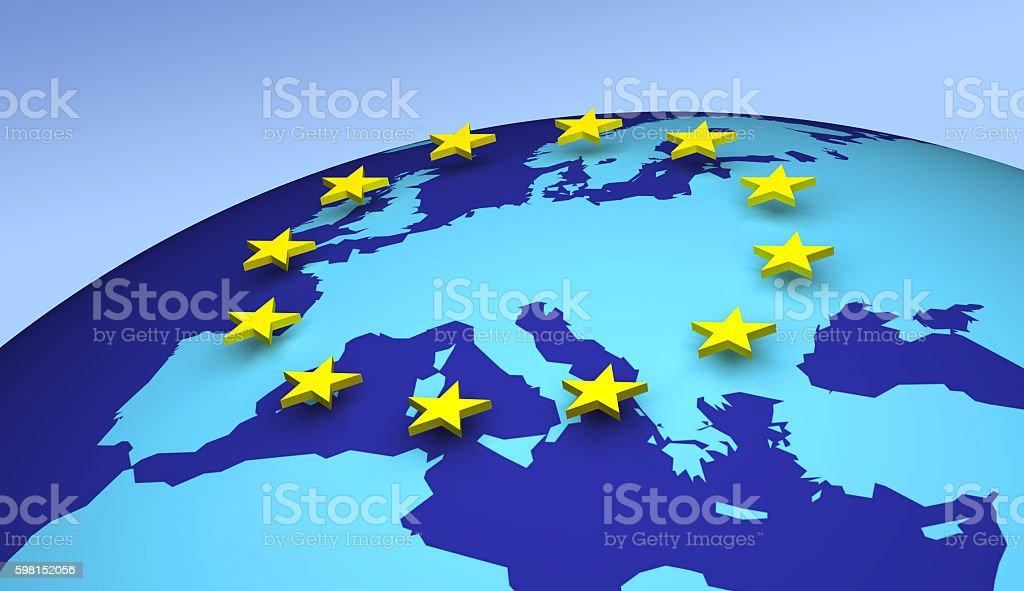 European Union 3D stock photo