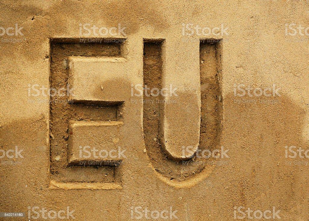 European Union Abbreviation stock photo