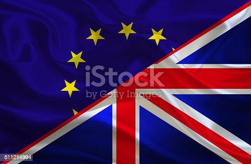 istock European Union and British flag 511214994