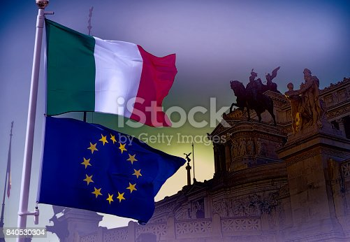 istock European Union and Italy. 840530304