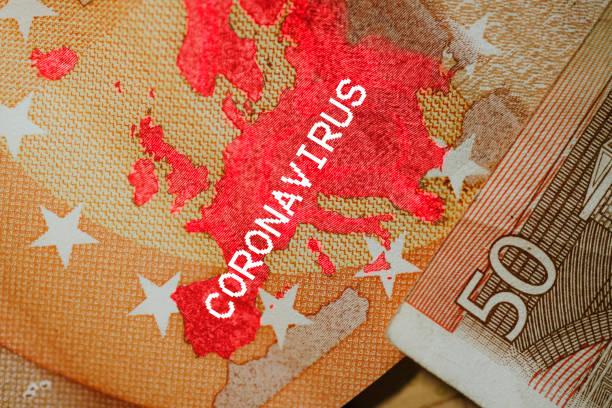 European Union ap and Coronavirus stock photo