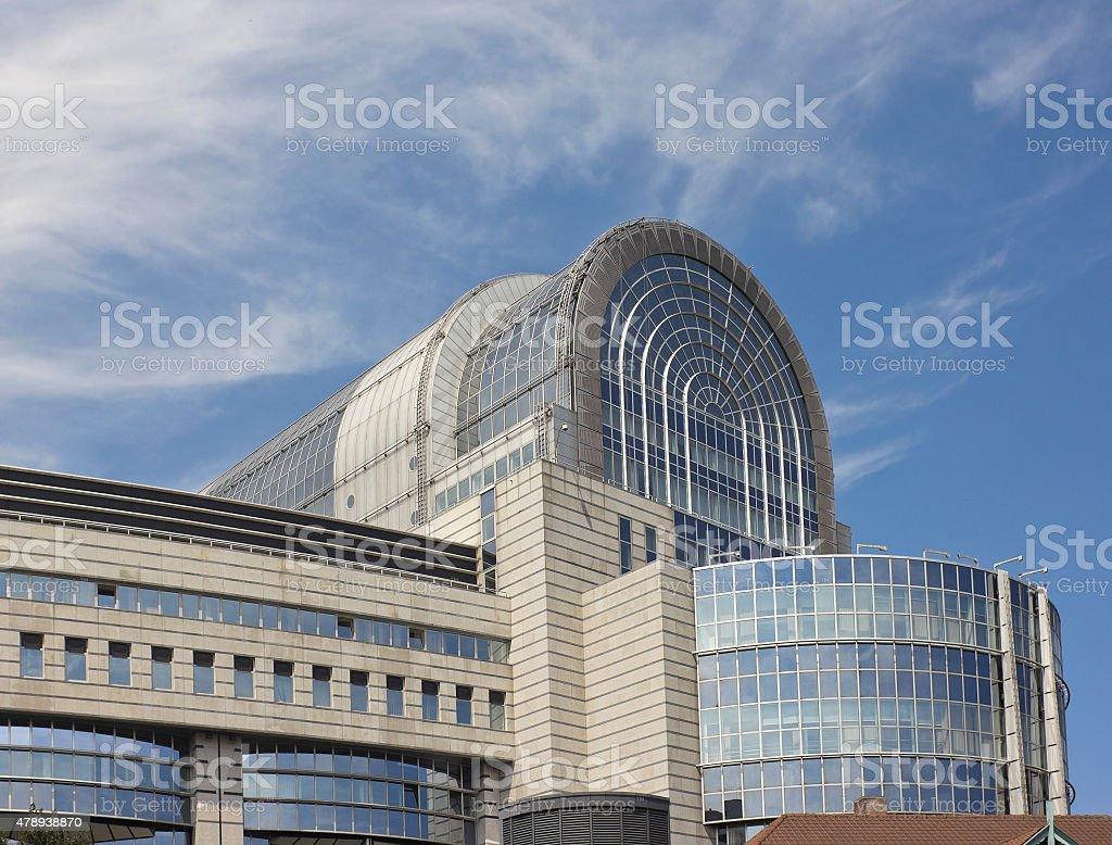 European Union building in Brussels, Belgium stock photo