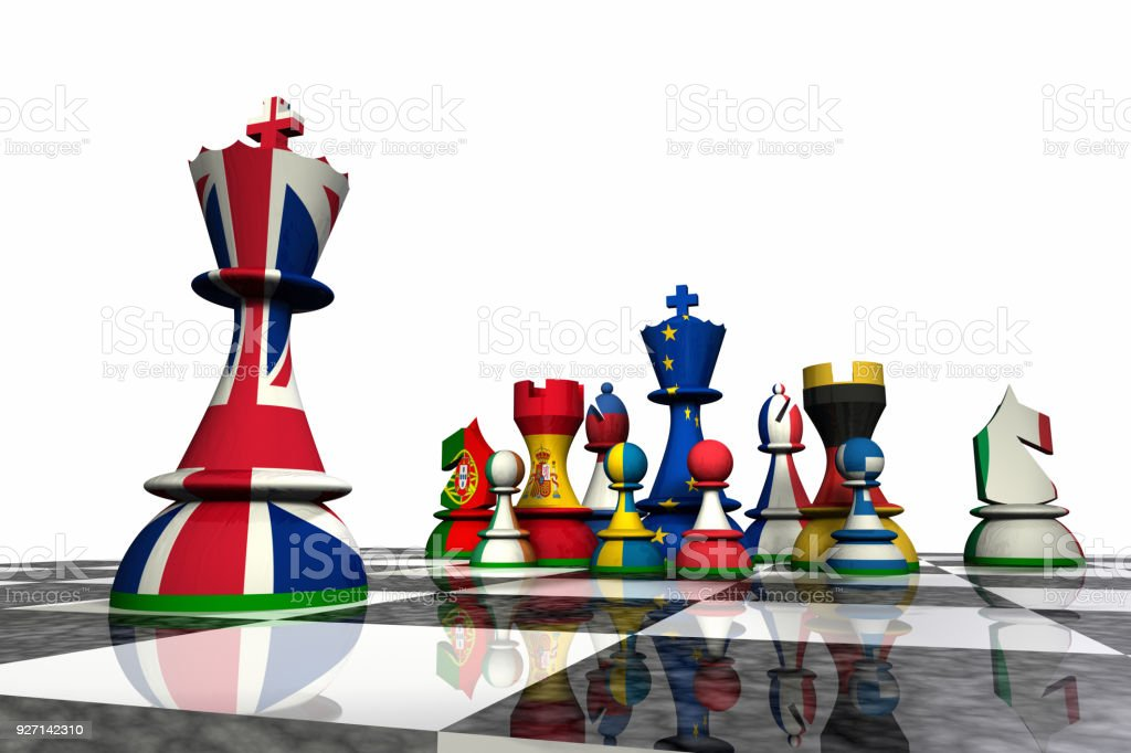 European Union - Chess Pieces stock photo