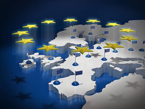 europäische union-konzept - ec karte stock-fotos und bilder