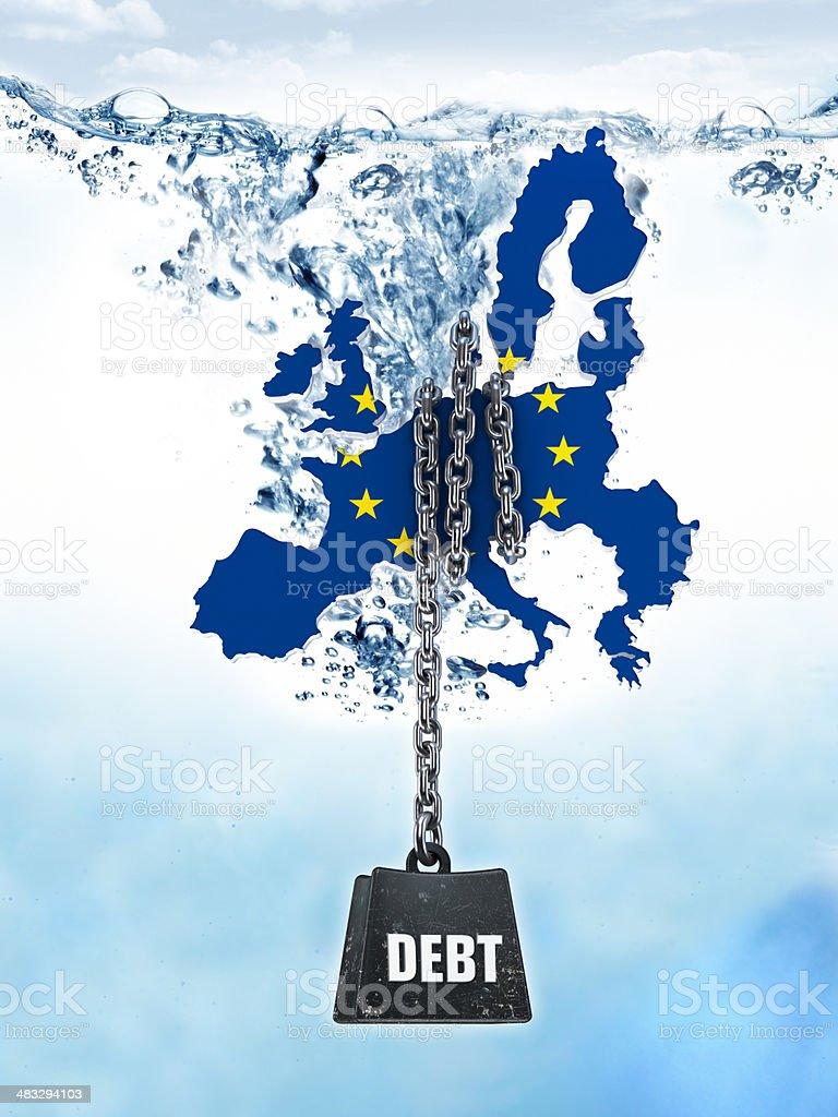 European Union countries - foreign debts royalty-free stock photo