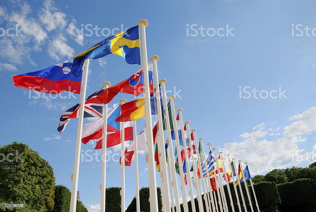 European Union country flags royalty-free stock photo