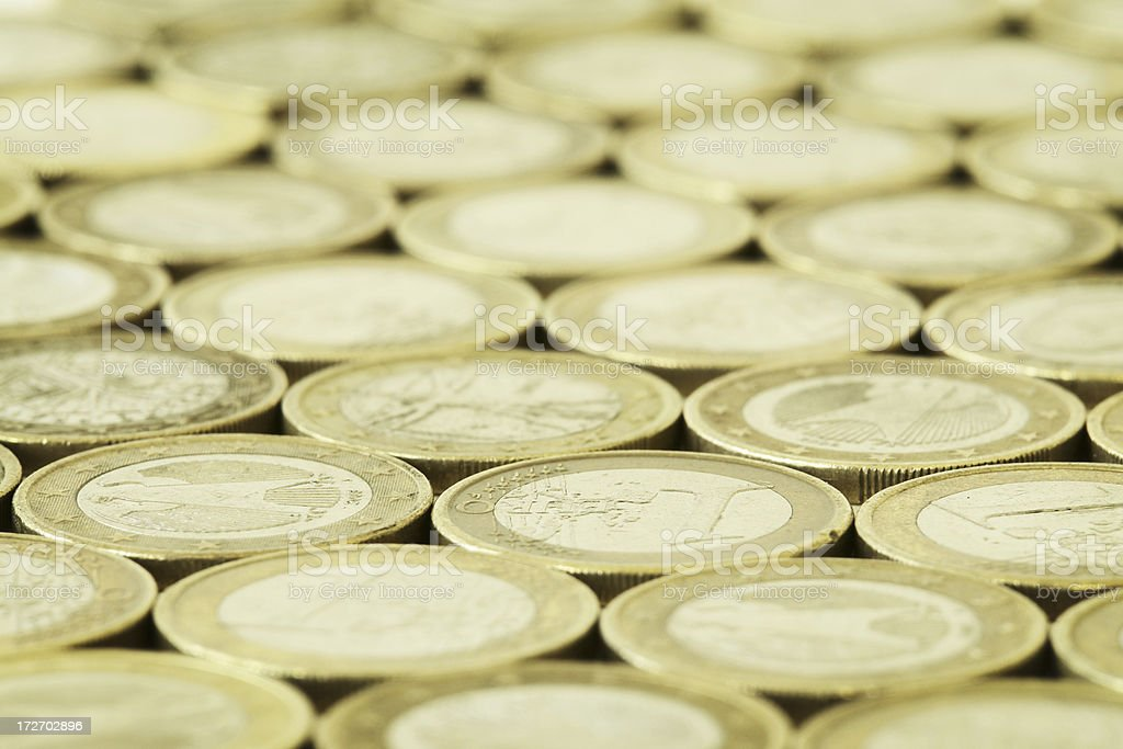 European Union Currency Background royalty-free stock photo