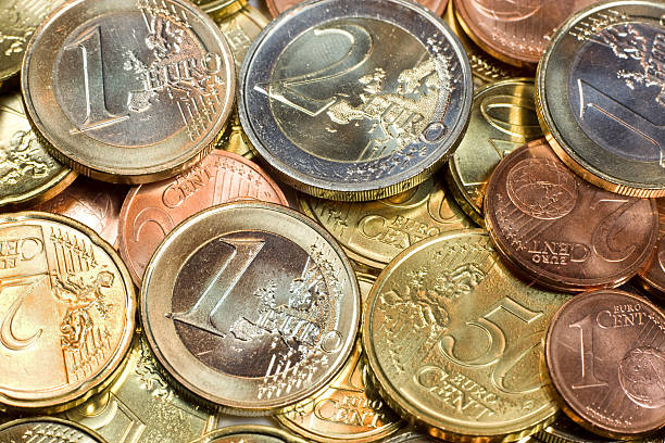 European Union Currency  european union coin stock pictures, royalty-free photos & images