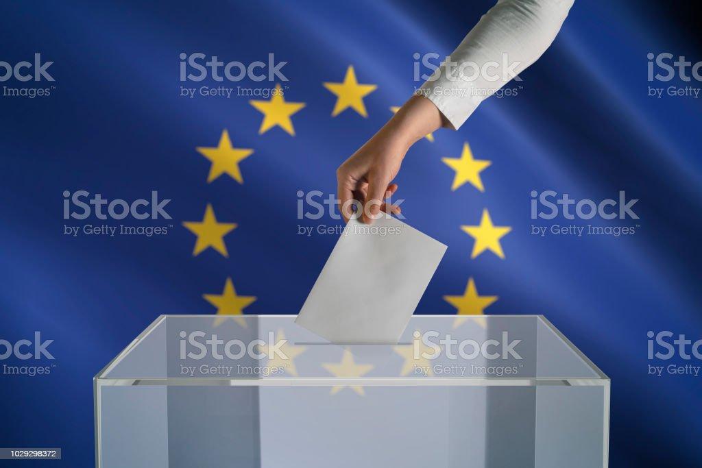 European Union Election royalty-free stock photo