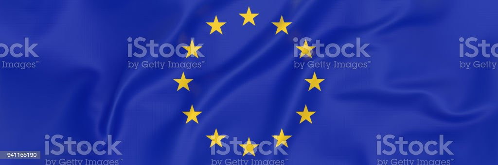 European Union Flag banner stock photo