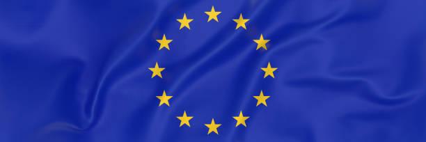 European Union Flag banner stock photo