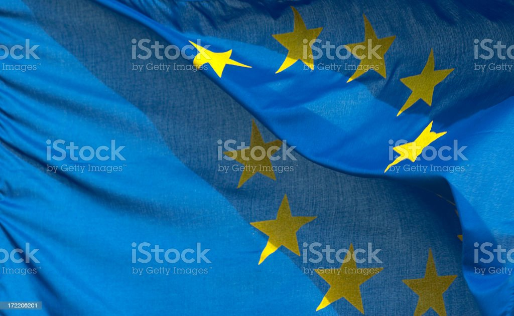 European Union Flag royalty-free stock photo