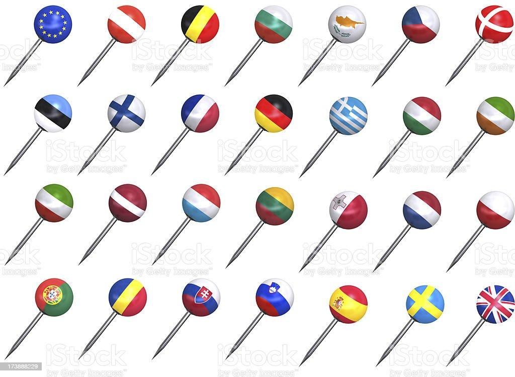 european union flag push pins stock photo  u0026 more pictures
