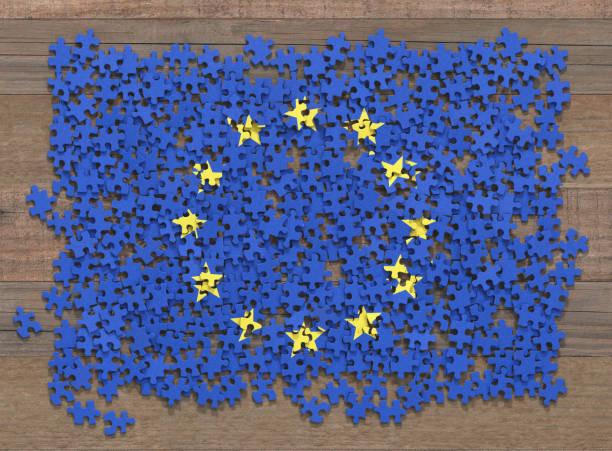 Europäischen Union Flag Puzzle – Foto