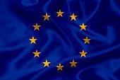 European Union flag waving background