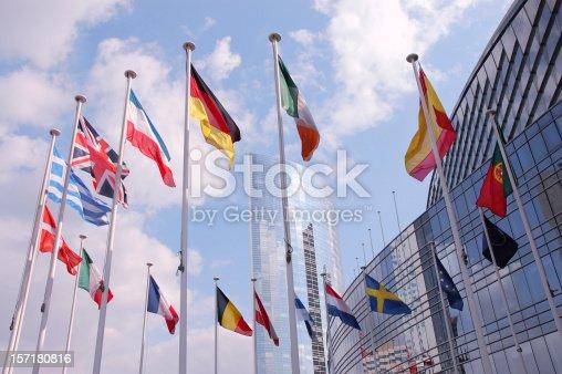 istock European Union Flags 157180816