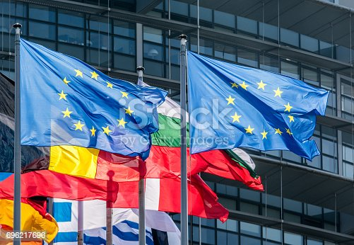 istock European Union Flags 696217696