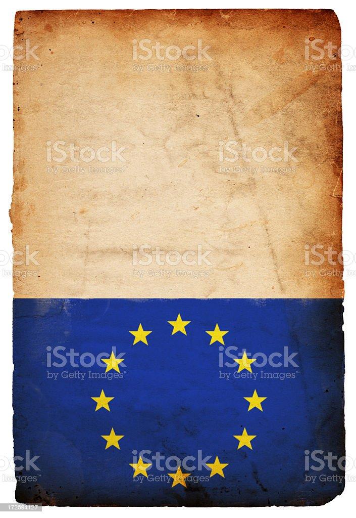 European Union Grunge Flag XXXL royalty-free stock photo