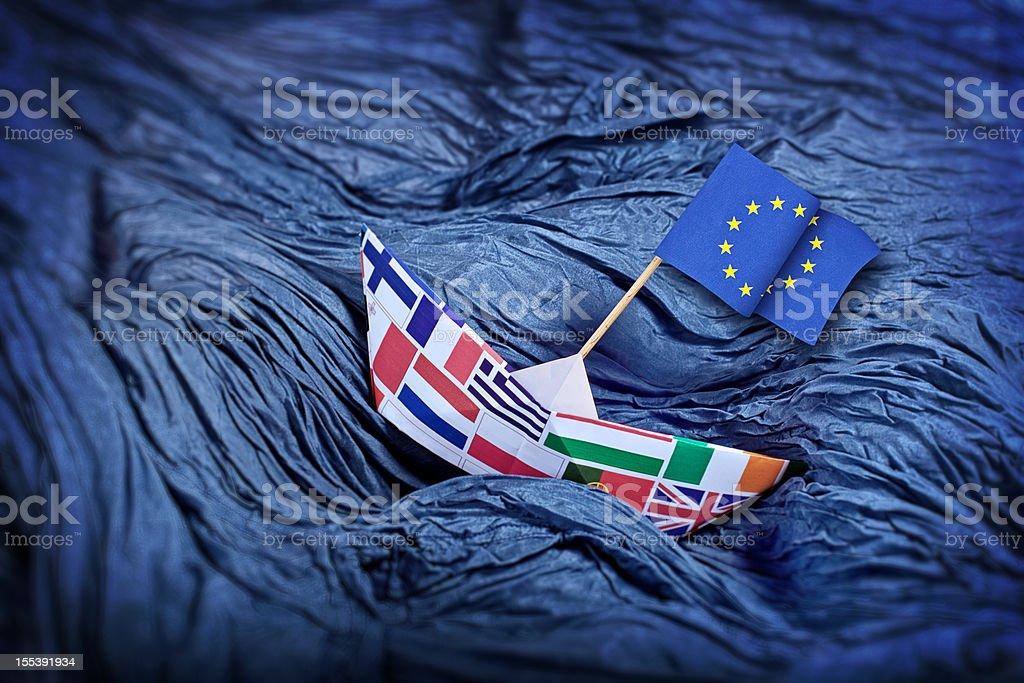 European Union in trouble stock photo