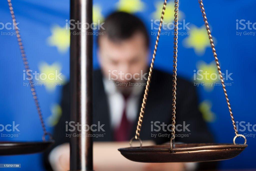European Union lawyer royalty-free stock photo