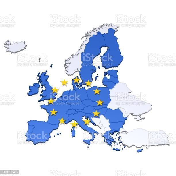 Mapa Unii Europejskiej 3d Kraje Ue Ilustrują Problemy Krajów Które Pozostawiają Szablon Znaku Kryzysowego Odizolowane Na Białym - zdjęcia stockowe i więcej obrazów Bez ludzi