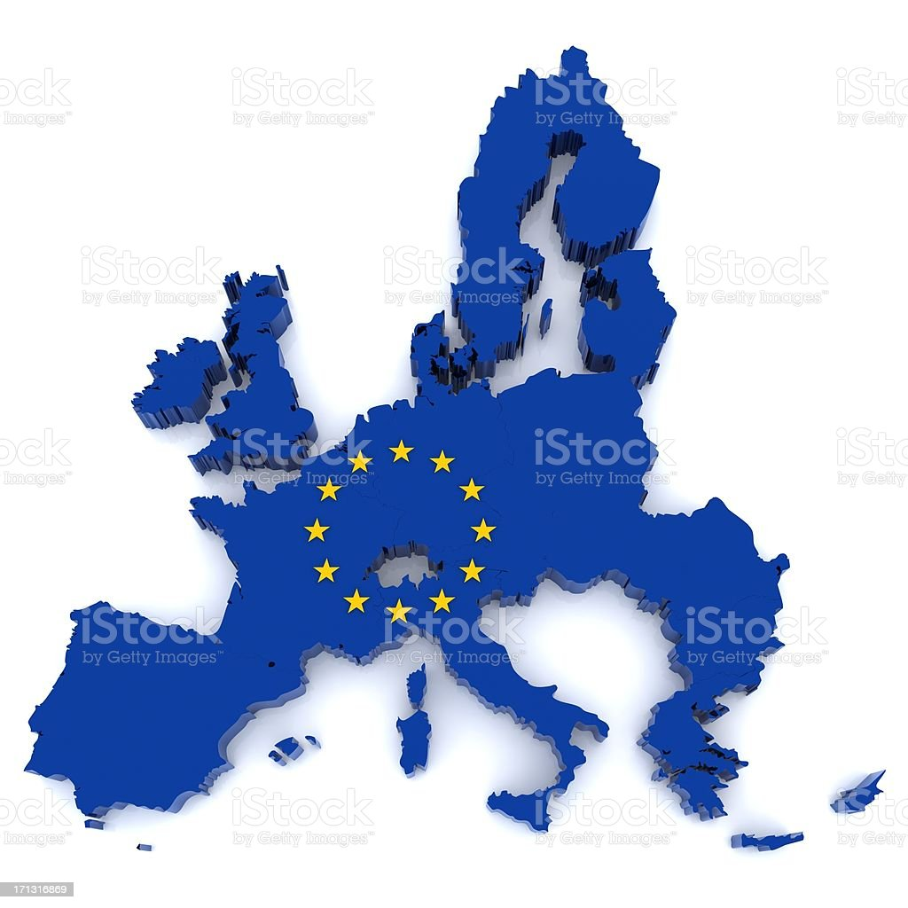 European Union map royalty-free stock photo