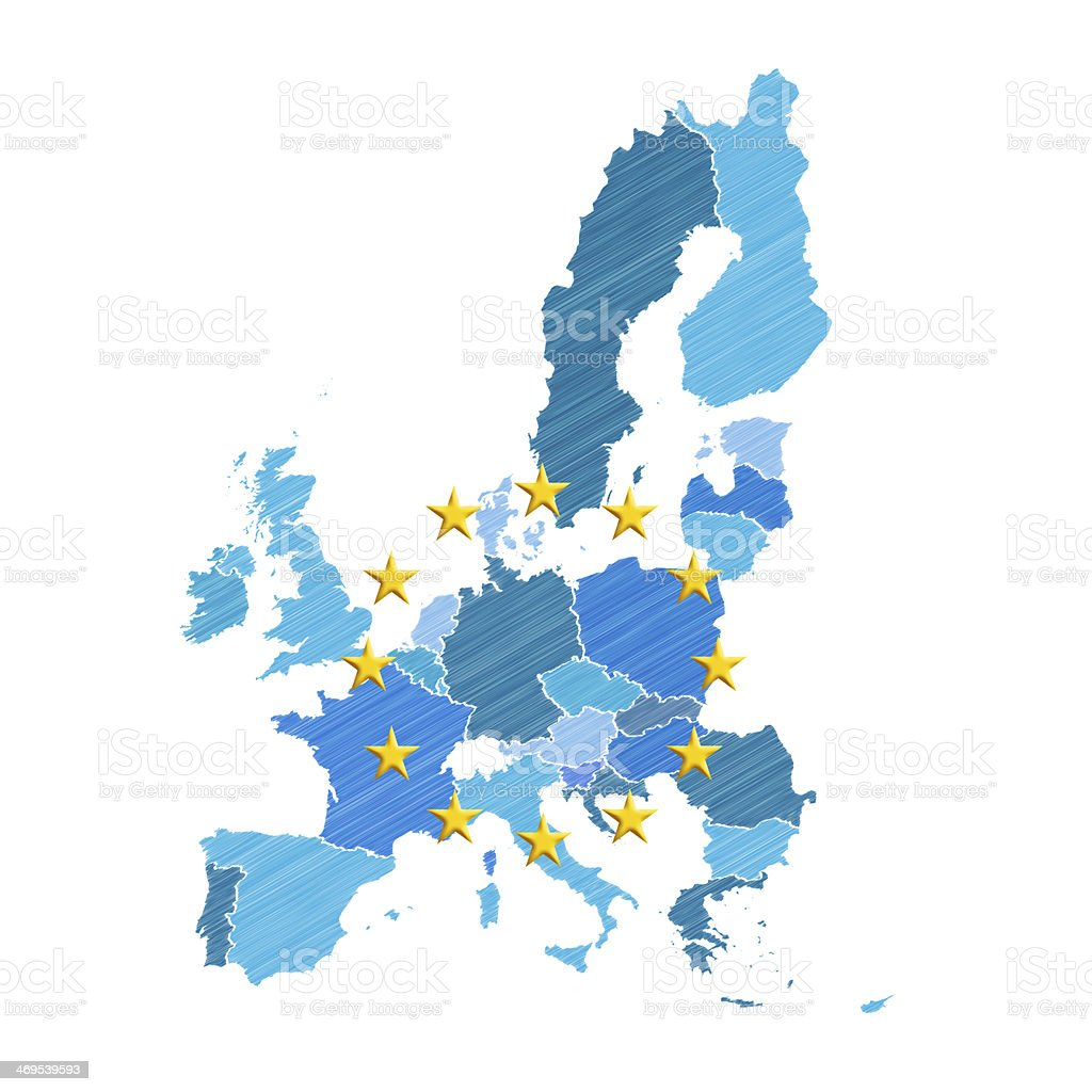 European Union map stock photo
