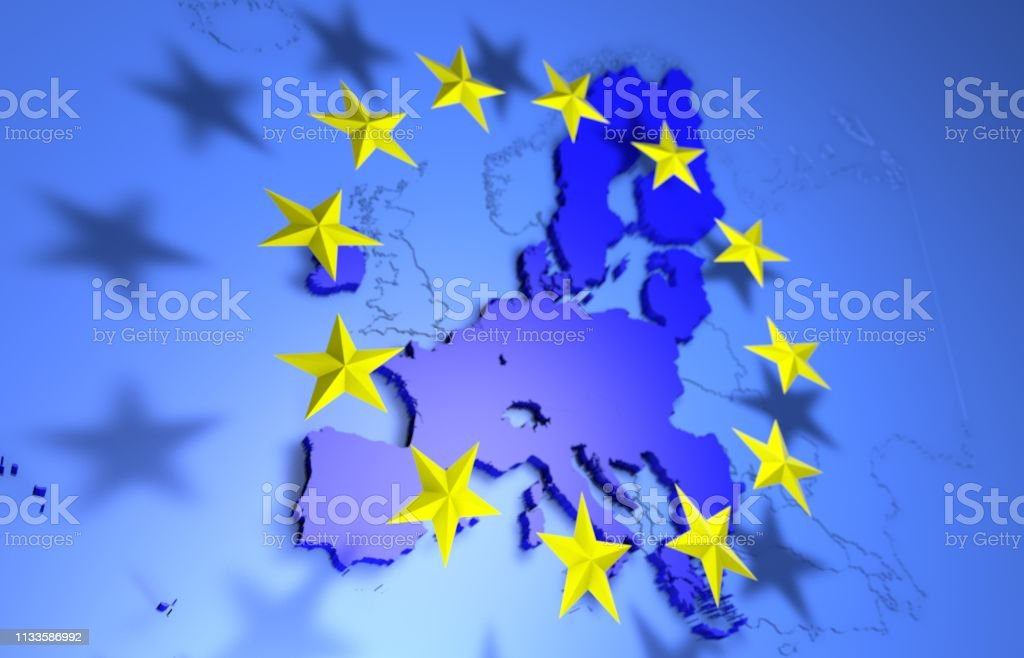 European Union Map without UK royalty-free stock photo