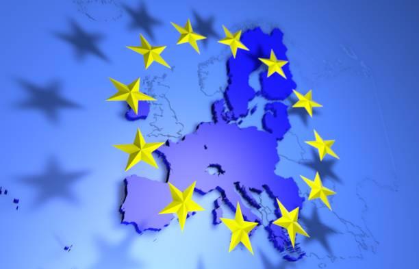 沒有英國的歐盟地圖 - 歐洲 個照片及圖片檔