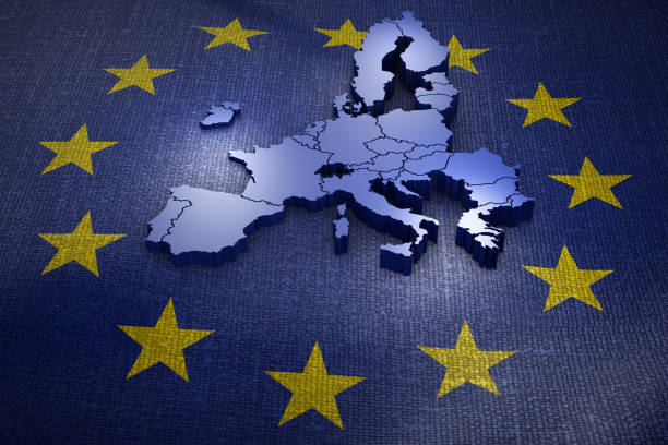 Union européenne sur le drapeau - Photo
