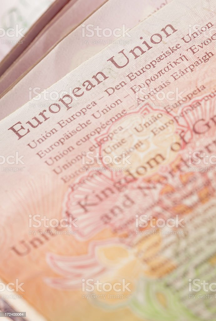 European Union Passport royalty-free stock photo