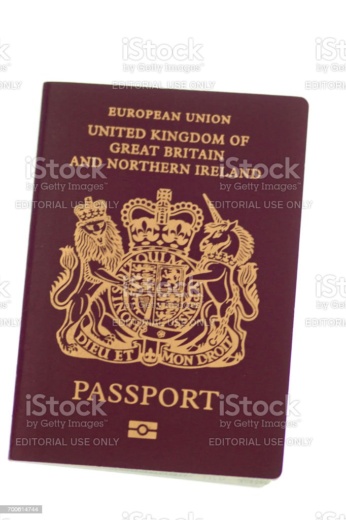 UK European Union passport stock photo