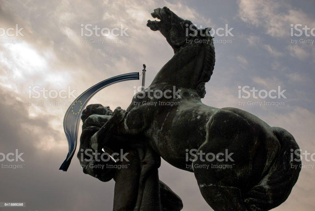 European Union struggle to survive stock photo