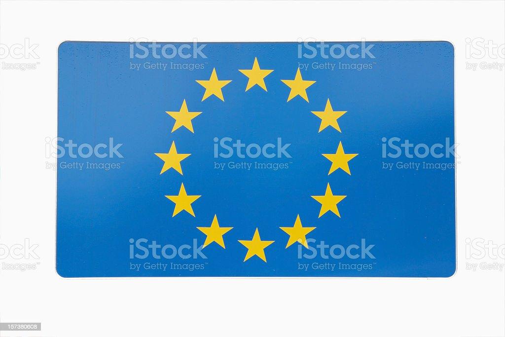 European union - traffic sign royalty-free stock photo