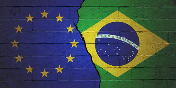 European Union versus Brazil stock photo