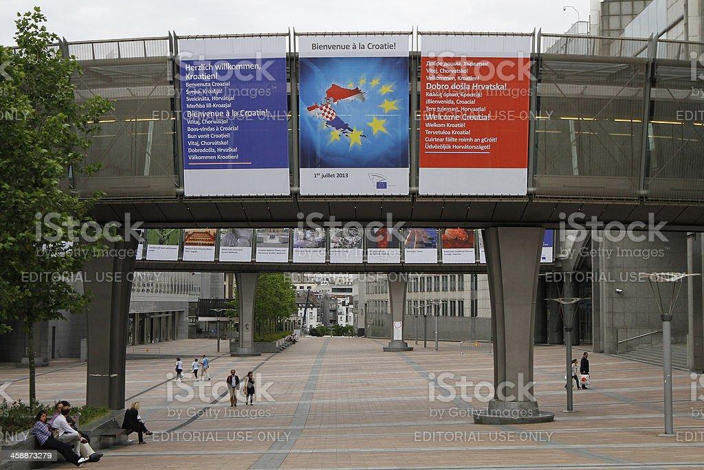 European Union welcomes Croatia to join EU stock photo