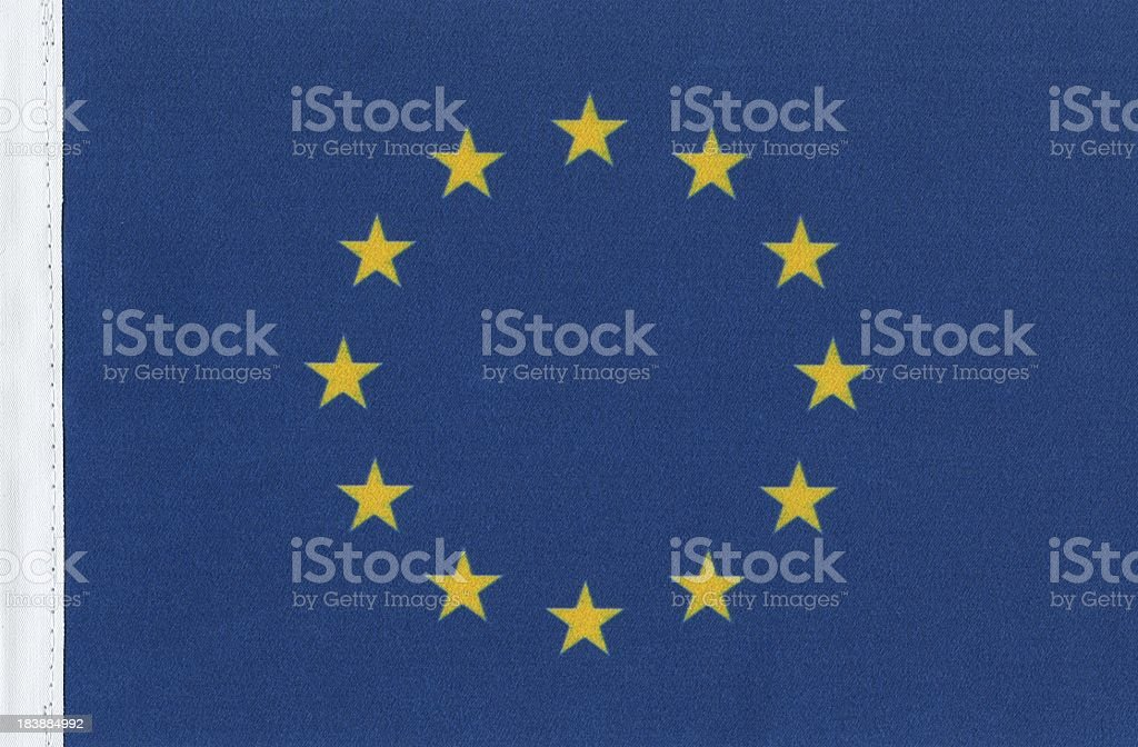 European Union's flag canvas. royalty-free stock photo