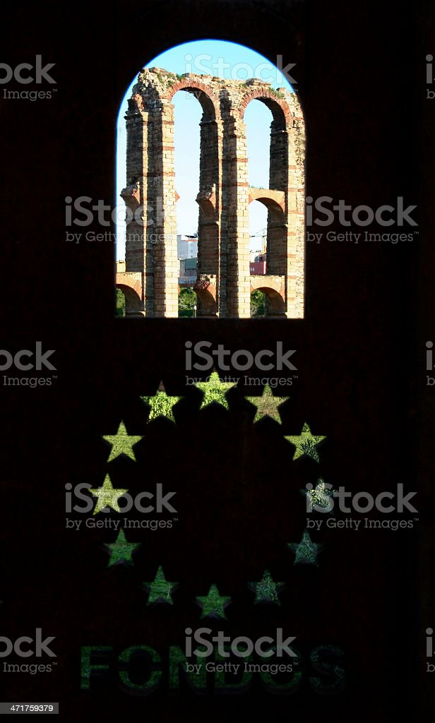 European window royalty-free stock photo