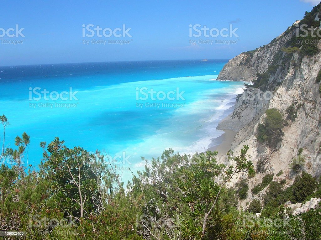 Europe-Greece-Egremnoi beach stock photo