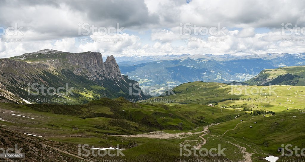 Europe's largest high-altitude plateau royalty-free stock photo